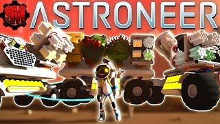RESOURCE TRAIN! Arid Planet Exploration - Astroneer Gameplay Ep7