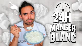 I ONLY ATE WHITE FOOD FOR 24 HOURS CHALLENGE ?!! JustJonathan