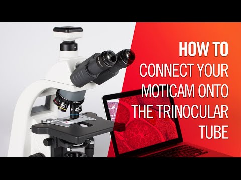 How to connect your Moticam onto the trinocular tube