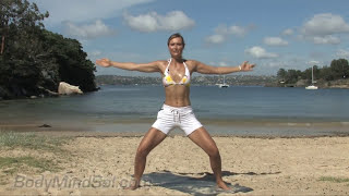 Sol Walkling - 15 min Beach Body Pilates workout in Manly Australia by southerncross73