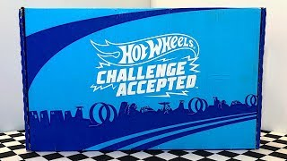 Opening Hot Wheels Challenge Accepted Subscription Pleybox!