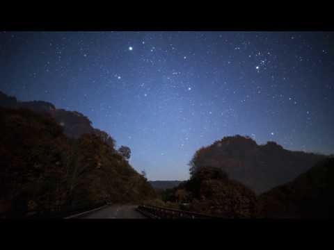 Nature time lapse of starry night