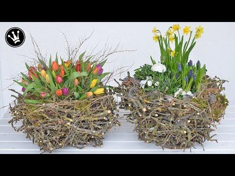 Frische Frühlingsdeko aus alten Zweigen - Alles aus der Natur