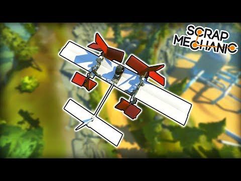 I Built a Working Piston Powered Plane! (Scrap Mechanic Gameplay)