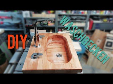 Waschbecken DIY aus Holz