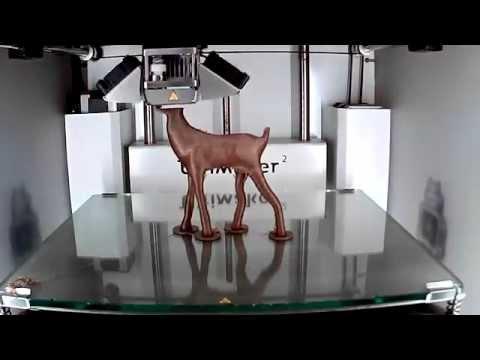 Ultimaker 2 - 3D printing timelapse of a beautiful Deer model