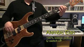 Bass Cover - Duran Duran - My Own Way - with Alembic Elan bass