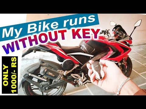 BlackCat Central locking System in All Bikes || Remote Start || Anti Theft Security Alarm Lock ||