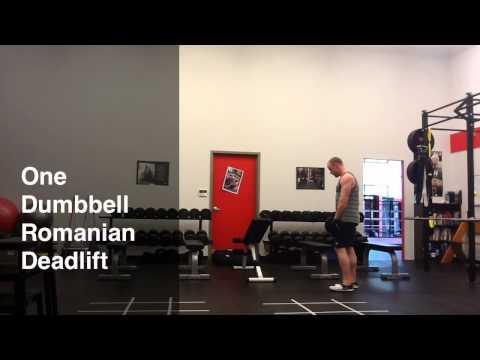 One Arm Dumbbell Romanian Deadlift