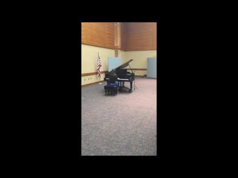 Student plays Sonatina op. 5 no. 1 Allegro by Kuhlau