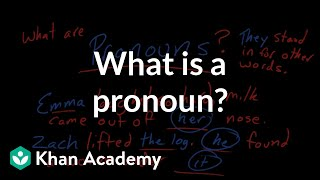 What is a pronoun?   The parts of speech   Grammar   Khan Academy