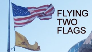 FlagDesk.com | Flag Runners show How to fly two flags on one flagpole