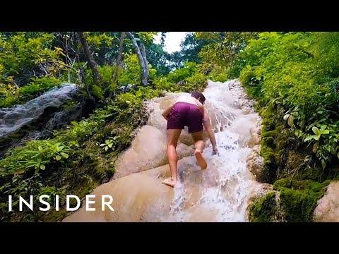 Climbing Thailand's Sticky Waterfall