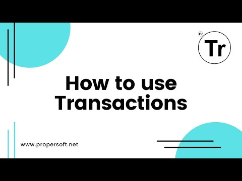 How to use the Transactions app