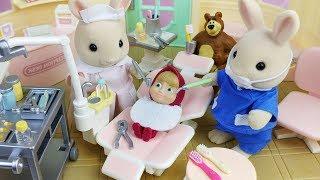 Baby Doll and Masha and Bear and Dentist Hospital toys Ambulance play - 토이몽