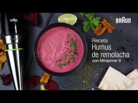 Receta de Humus de remolacha | Braun Minipimer