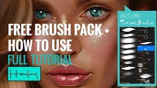 Procreate Brush Pack + Portrait tutorial from Start to Finish