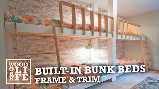 Built-in Bunk Beds - Part 1: Framing & Trim | Woodworking Builds