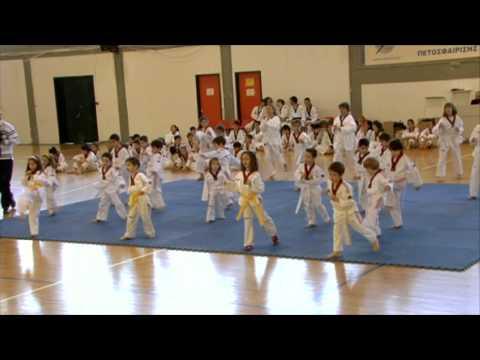 Βασικές τεχνικές από άσπρες ζώνες νηπίων - TAE KWON DO ΘΗΣΕΑΣ ΒΡΙΛΗΣΣΙΩΝ