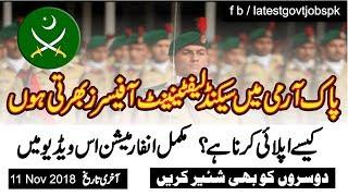 Pakistan Army Jobs as Second Lieutenant Officer   Latest Govt Jobs Pakistan