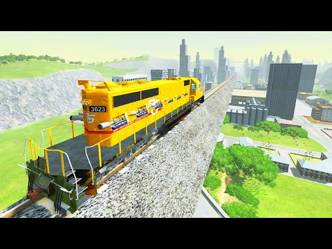 BeamNG Drive - I accelerated a 100 ton train to 240 mph and this happened