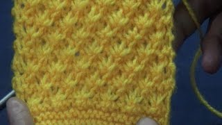 Knitting Pattern / Stitch Design # 6 -  Hindi - बुनाई डिजाइन - diagonal design
