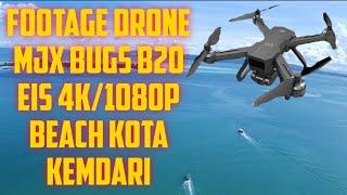 FOOTAGE DRONE MJX BUGS B20 EIS 4K CAMERA BEACH LOCATION KENDARI