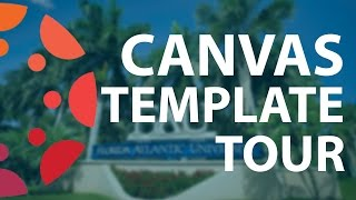 Center for eLearning Canvas Template Tour