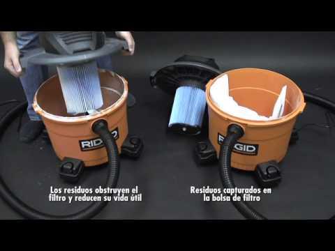 RIDGID MEXICO Importancia de las bolsas para filtros de aspiradora