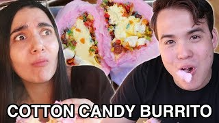 We Tried Instagram Cotton Candy Burritos