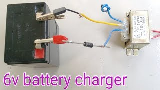 How To Make 6v Battery Charger at home
