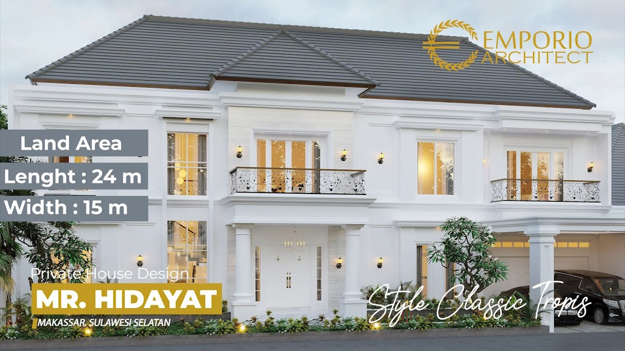 Video 3D Mr. Hidayat Classic House 2 Floors Design - Makassar, Sulawesi Selatan