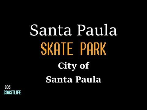 SANTA PAULA SKATE PARK, SANTA PAULA CA 4K, DRONE, GOPRO