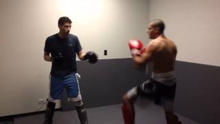 Student Sparring w Coach Marzano
