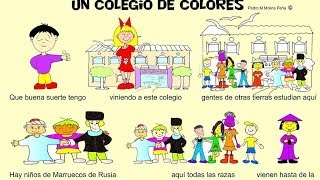 Cancion Infantil Paz e Interculturalidad Un cole de colores