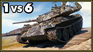 STB-1 - 11 Kills - 1 vs 6 - World of Tanks Gameplay