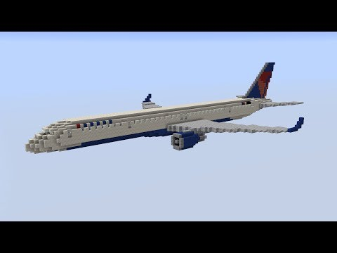 F N A Gaming Boeing 757 300 Delta Air Lines Minecraft Project