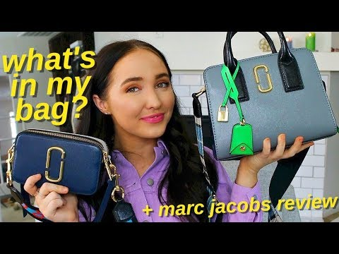 what's in my bag? marc jacobs big shot vs snapshot review