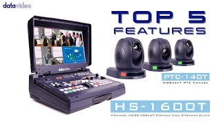 【Official】Top 5 Features of HS-1600T HDBaseT Portable Video Streaming Studio