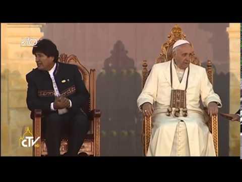 Accueil du Pape François en Bolivie