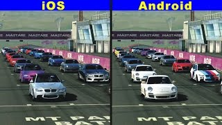Real Racing 3 iOS vs Android - Gameplay