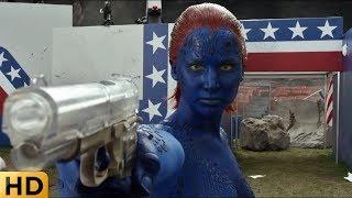 Мистик стреляет в Магнито и спасает президента США. Люди Икс: Дни минувшего будущего.