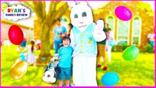 Kids Easter Egg Hunt with the Real Easter Bunny and Ryan's Family Review