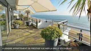 preview picture of video 'A VENDRE APPARTEMENT DE PRESTIGE VUE MER LA BAULE-ESCOUBLAC (44500)'