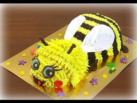 Мастер-класс торта в виде пчелы
