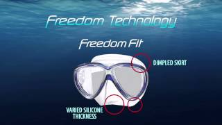 Маска для дайвинга TUSA Freedom One  M-211. QB/BZ. черно-бронзовая от компании Магазин Calipso diveshop, Магазин Aquamarin - видео