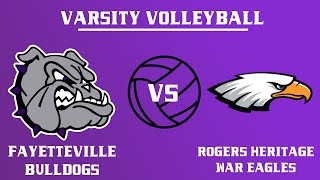 Varsity Girls Volleyball  I  Rogers @ Fayetteville