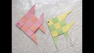How to make an Origami Cute Fish Paper|Fish Paper Folding craft|Paper Fish - Easy Tutorials By vogue - Video Youtube