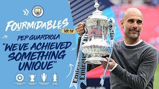 PEP GUARDIOLA CELEBRATES ALL FOUR TROPHIES! | FA CUP | MAN CITY 6-0 WATFORD