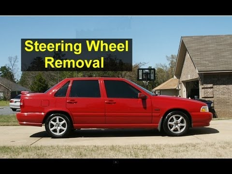 Steering wheel and drivers side air bag removal, Volvo S70, V70, XC70, 850 - Auto Repair Series